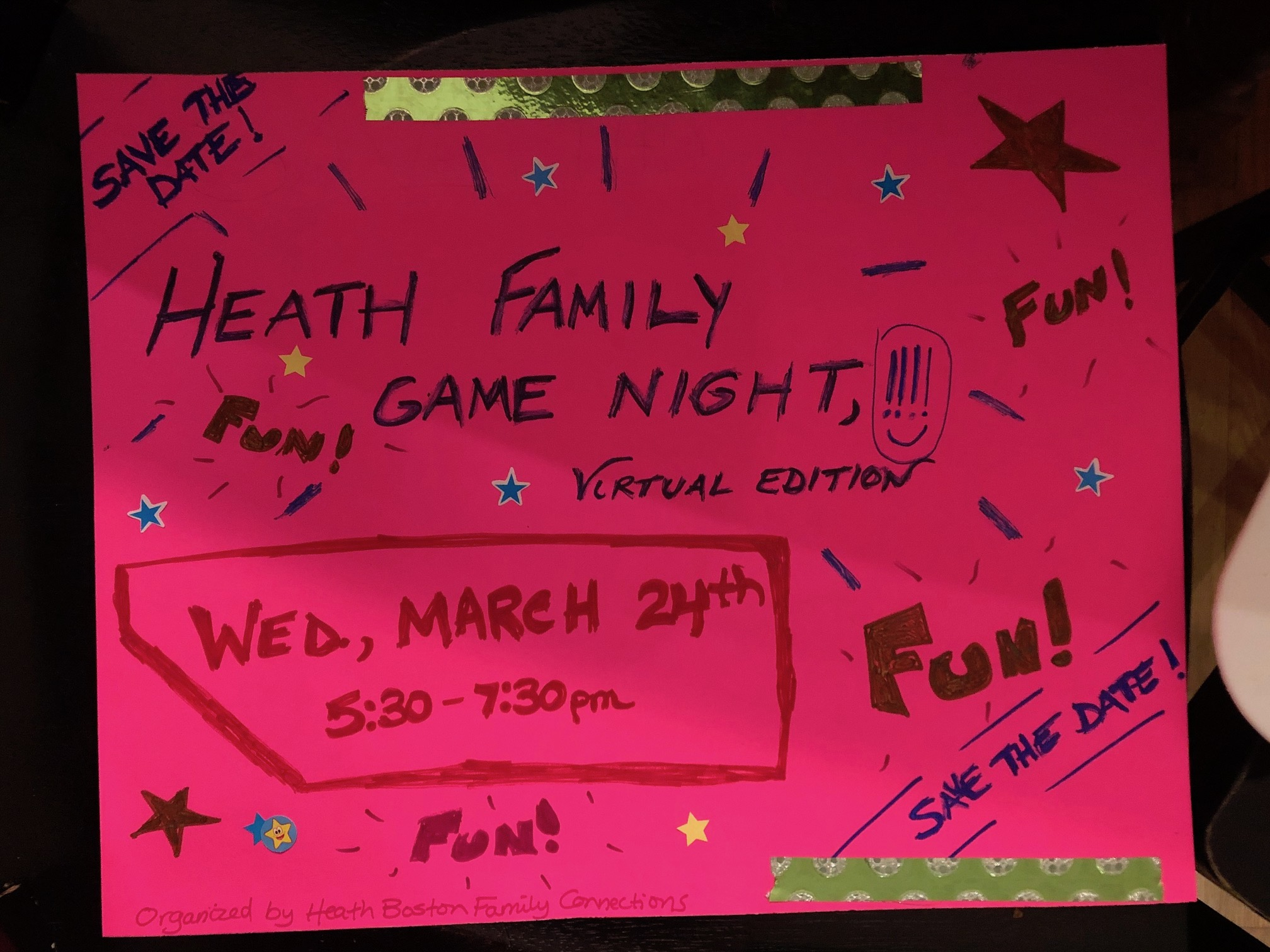 Heath Family Game Night 2021 Virtual Edition